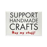 'Support Handmade Crafts' Rectangle Magnet (10 pac