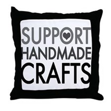 'Support Handmade Crafts' Throw Pillow