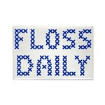 'Floss Daily' Rectangle Magnet