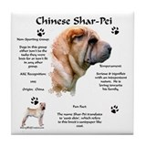 SharPei 1 Tile Coaster