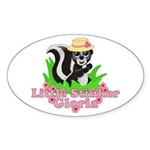 Little Stinker Gloria Sticker (Oval)
