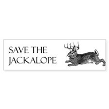 Save the Jackalope Bumper Bumper Sticker