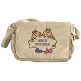 Mom of Twin Girls Messenger Bag
