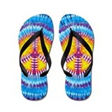 Purple Peace Flip Flops