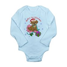 Baby's 1st Christmas Long Sleeve Infant Bodysuit