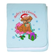Baby's 1st Christmas baby blanket