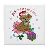 Baby's 1st Christmas 2012 Tile Coaster