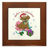 Baby's 1st Christmas 2012 Framed Tile
