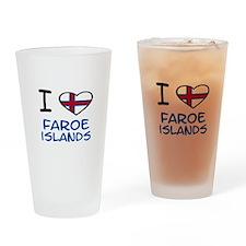 Cute Faroe island Drinking Glass