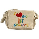 I Love My 1st Graders Messenger Bag