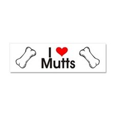 I Love Mutts Car Magnet 10 x 3