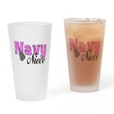 Navy Niece Drinking Glass