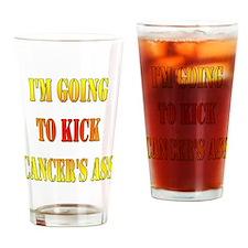 Kick Cancer's Ass Drinking Glass