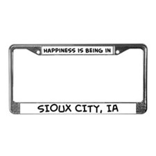 Happiness is Sioux City License Plate Frame