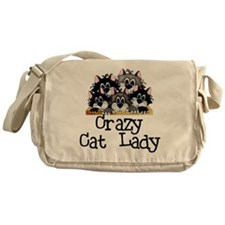 Crazy Cat Lady Messenger Bag