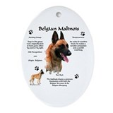 Malinois 1 Oval Ornament