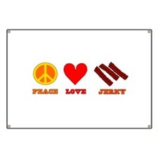 Peace Love Jerky Banner