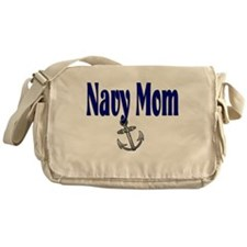Navy Mom with anchor Messenger Bag