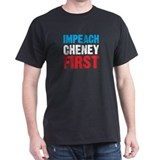 Impeach Cheney Black T-Shirt
