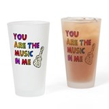 'The Music In Me' Drinking Glass