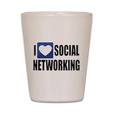 Social Networking Shot Glass