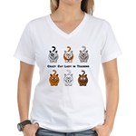 Crazy Cat Lady In Training Women's V-Neck T-Shirt