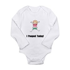 I Pooped Today! Long Sleeve Infant Bodysuit