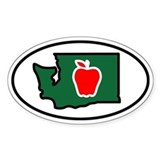 Washington Apple Decal