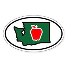 Washington State Apple Decal