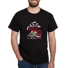 Kanji Love Rose T-Shirt