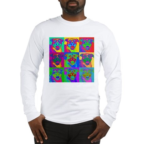 Op Art Pitbull Long Sleeve T-Shirt