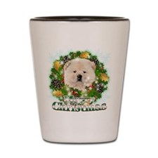 Merry Christmas Chow Chow Shot Glass