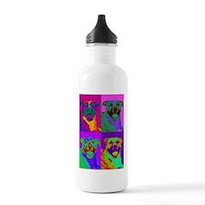 Op Art Pitbull Water Bottle
