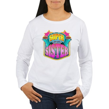 Pink Super Sister Women's Long Sleeve T-Shirt