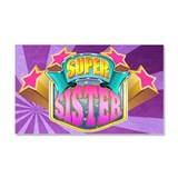 Pink Super Sister Car Magnet 20 x 12