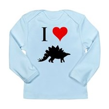 I Love Dinosaurs - Stegosauru Long Sleeve Infant T