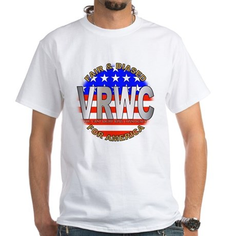 VRWC Fair & Biased White T-Shirt