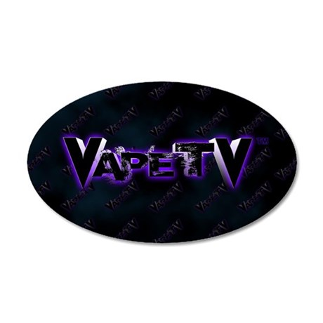 VapeTV 38.5 x 24.5 Oval Wall Peel