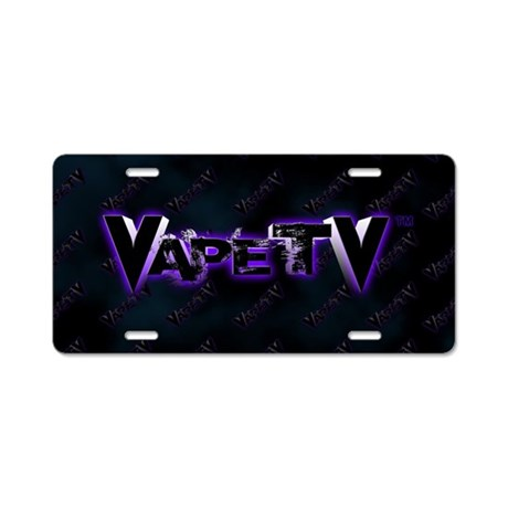 VapeTV Aluminum License Plate