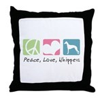 Peace, Love, Whippets Throw Pillow
