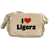 I Love Ligers Messenger Bag
