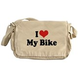 I Love My Bike 3 Messenger Bag