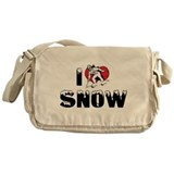 I Love Snow Messenger Bag