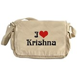 I Love Krishna Messenger Bag