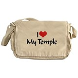I Love My Temple Messenger Bag