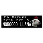 Morocco Llama For President Sticker (Bumper 10 pk)