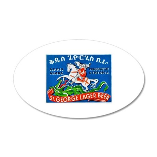Ethiopia Beer Label 3 22x14 Oval Wall Peel