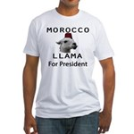 Morocco Llama For President Fitted T-Shirt