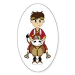 Roman Emperor and Horse Sticker (50 Pk)