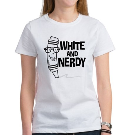 White And Nerdy Women's T-Shirt